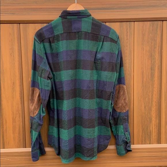J. Crew 30% wool 70% cotton patch elbows  flannel